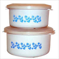 Round Printed Steel Container Set