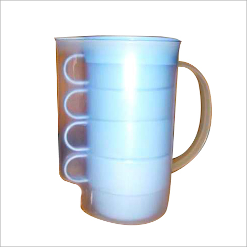 Plastic Water Jug Set With 4 Cups