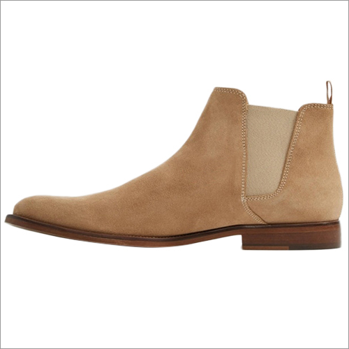 Mens Plain Leather Boot