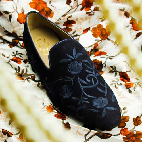 Mens Embroidered Loafer Shoes