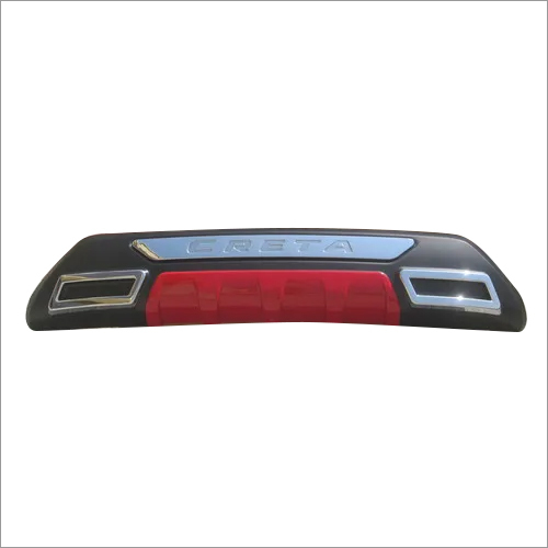 Creta 2018 Bumper Guard Rear Black/Red ABS
