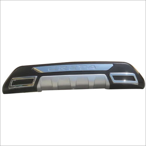 Creta 2018 Bumper Guard Rear Black/Silver