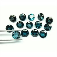 1.5mm Natural London Blue Topaz Faceted Round Loose Gemstone