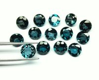 2.5mm Natural London Blue Topaz Faceted Round Gemstone