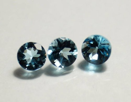 3.5mm Natural London Blue Topaz Faceted Round Gemstone