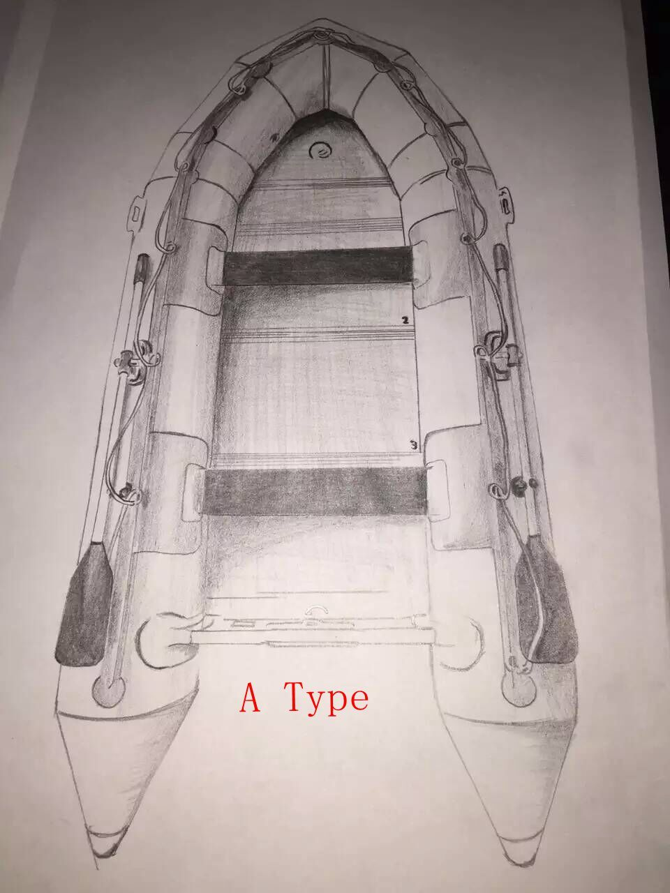 V Type Inflatable Boat