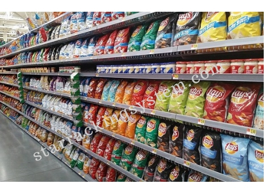 All Color Grocery Display Rack