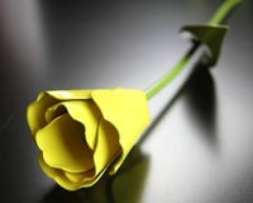 Yellow Tulip Metal Flower
