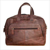 Buff Waxi Red Brown Leather Bag