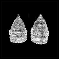 Glass Shree Meru Laxmi Yantra Sphatik