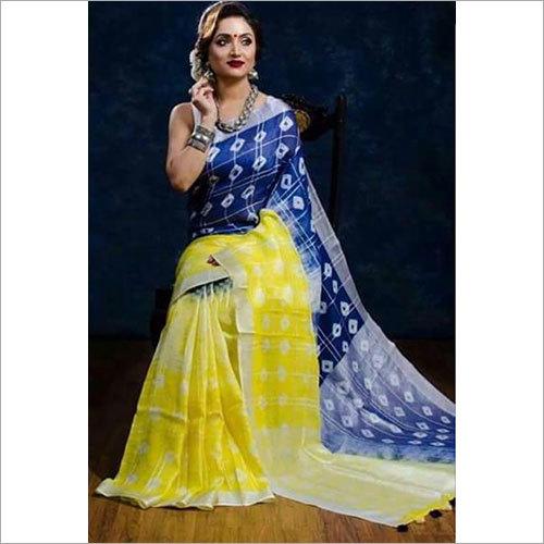 Sibouri Printed Linen Saree