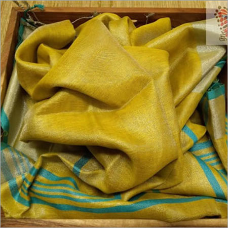 Tissue Yellow Silk Saree