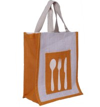 Spoon yellow spoon Lunch Bag