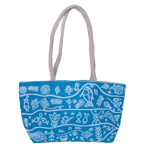 Fish Print Small Shopping Bag