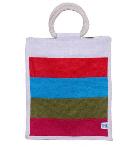 Lunch bag-Multi colour (FOUR COLOR STRIPS)