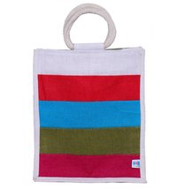 Lunch bag-Multi colour (FOUR COLOR STRIPS)