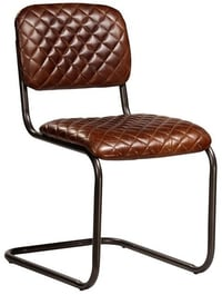 Iron Leather Chic Chair