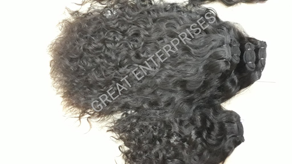 Natural Curly Weft Hair