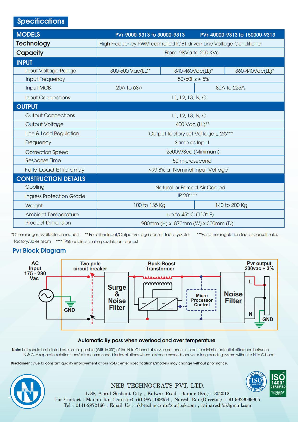 IGBT Static Voltage Stabilizer