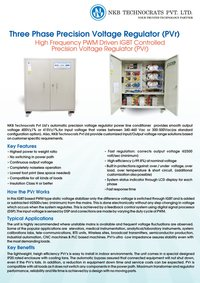Three Phase PWM Driven IGBT Controlled Static Voltage Stabilizer
