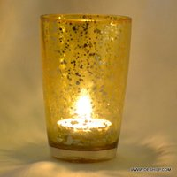 Yellow T-Light Candle Holder