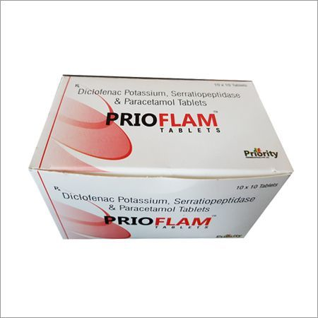 Diclofenac Sodium 50 MG + Serriatiopeptidase 10 MG + Paracetamol 325 MG