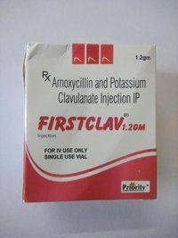 Amoxicillin 1000 MG + Clavulanic Acid 200 MG Injection