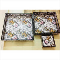 Wooden Meena Trays