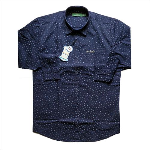 Mens Polka Dotted Casual Shirt