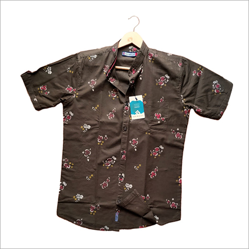 Mens Half Sleeve Printed Casual Shirt