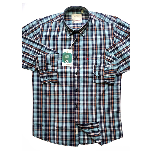 Mens Small Check Casual Shirt