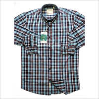 Mens Small Check Casual Shirt