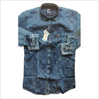 Mens Blue Denim Shirt