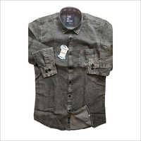 Mens Grey Denim Shirt