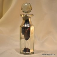 Silver Antique Finish Perfume Bottle