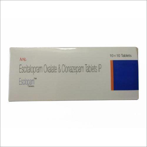 Clonazepam0.5 + Escitalopram10 MG Tablets