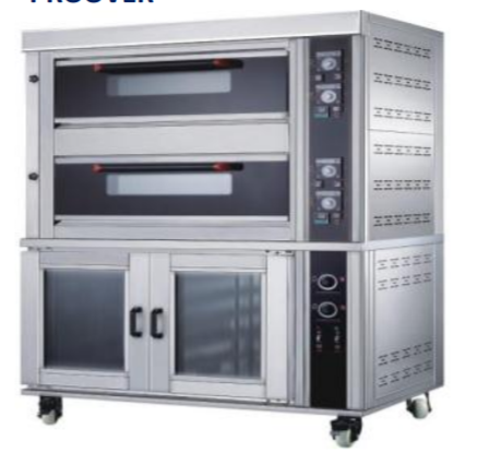 Two deck oven with proover