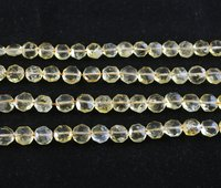 Natural Citrine Coin Beads