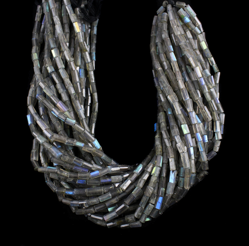 Labradorite Pipe Beads