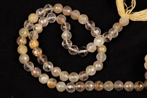 Golden Rutile Quartz Beads