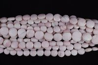 Pink Opal Coin Beads