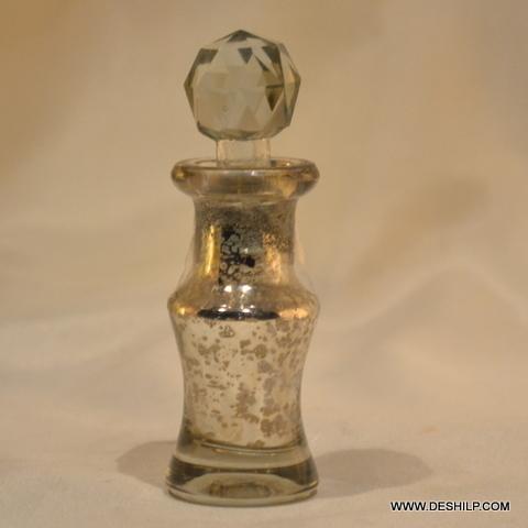 Sml Silver Glass Decanter