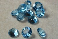 5mm Natural Swiss Blue Topaz Faceted Round Loose Gemstone