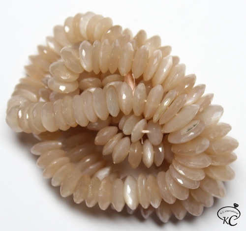 Peach Moonstone German Cut Beads
