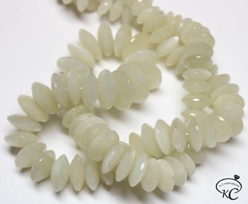 White Moonstone German Cut Beads