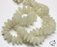 White Moonstone German Cut Beads