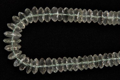 Green Amethyst German Cut Beads