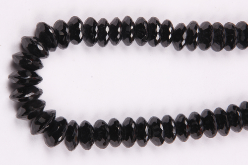 Black Spinel German Cut Beads