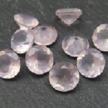 4mm Natural Rose Quartz Faceted Round Gemstone