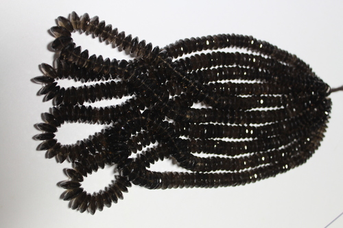 Smoky Quartz German Cut Beads